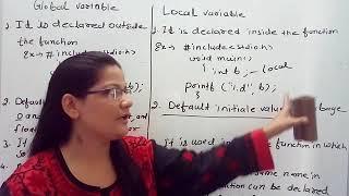 Global and Local variables in C in Hindi  Lec-36 C Programming Tutorial in Hindi