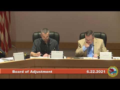 6.22.2021 Board of Adjustment