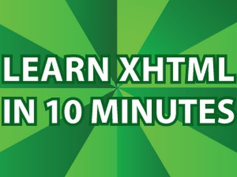 XHTML Video Tutorial