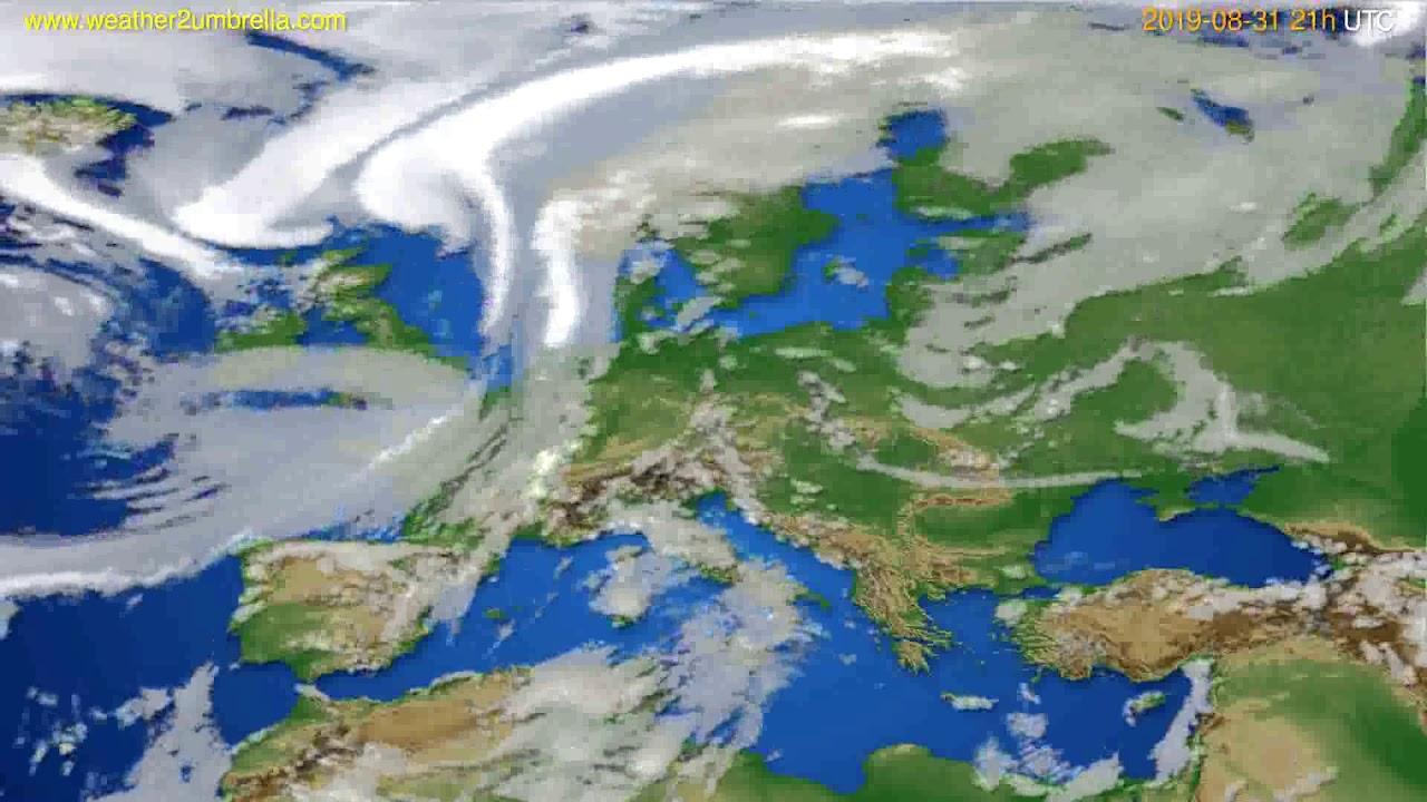 Cloud forecast Europe // modelrun: 00h UTC 2019-08-30