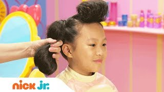 How to Make a Cool Poodle Hairdo 🐩 Style Files Hair Tutorial | Sunny Day | Nick Jr.