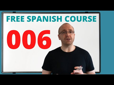 Spanish Lessons for Beginners (Free Online Course) 006