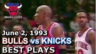 1993 Bulls Vs Knicks Game 5 HD Highlights