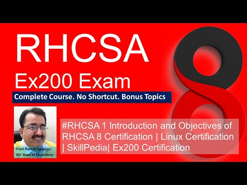 Session 1 Introduction and Objectives of RHCSA Centos 8   RHEL 8 ...