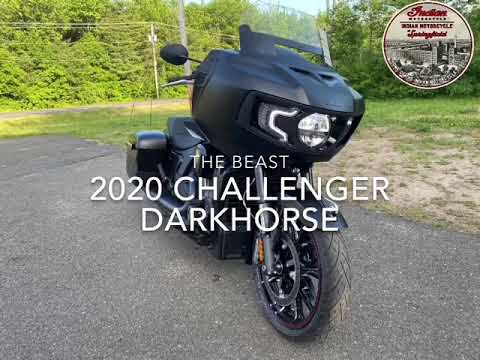 2020 Indian Challenger® Dark Horse® in Westfield, Massachusetts - Video 1