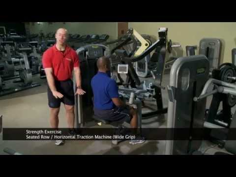 Seated Row Machine (Wide Grip)