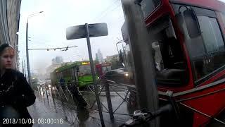 Казань, авария в центре города.