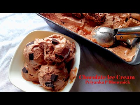 Chocolate ice cream/ icecream making/desert recipe/double chocolate icecream