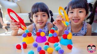 หนูยิ้มหนูแย้ม | เล่นคีบปอมปอม Kids Activities