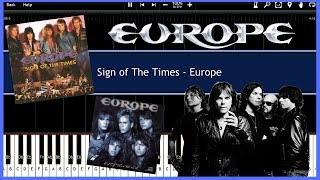 Sign of The Times - Europe (Synthesia) [Tutotial] [Instrumental Video] [Download]