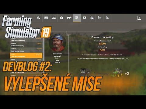 VYLEPŠENÉ MISE | Farming Simulator 19 DevBlog #2
