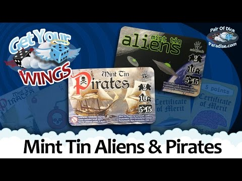 Pair Of Dice Paradise reviews Mint Tin Aliens & Mint Tin Pirates (Get Your Wings)