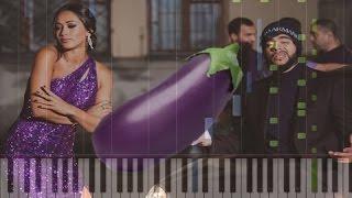 Как играть Тимати - Лада Седан Баклажан на пианино