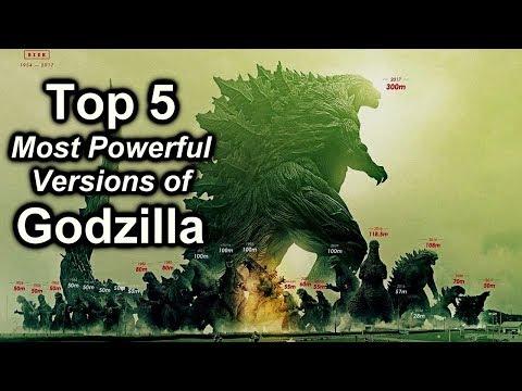 Top 5 Most Powerful Versions of Godzilla!  /  Ranking Godzilla