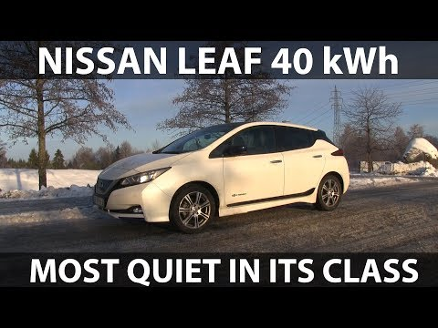"""Nissan Leaf 40 kWh noise test with 17"""" wheels"""