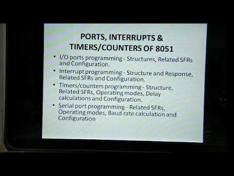 I/O Port Programming and Interrupt Programming in 8051