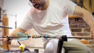 Epic Optics: Hand Blown Glass Diamond-Pattern Tulip Goblet With Michael Schunke