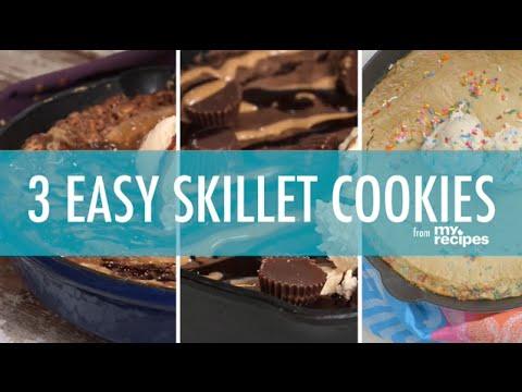 3 Easy Skillet Cookies