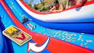 WATERSLIDE VS MOUSE TRAPS!!!