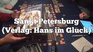 Test Sankt Petersburg (Hans im Glück): Rezension und Beispielrunde von Spiele-Podcast.de