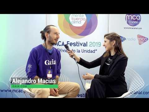 Entrevista a Alejandro Macias de GAIA.com en MCA Festival 2019