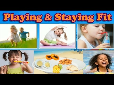 Video How to Keep Your Body Clean, Eat Healthy & Stay Fit With Exercise - Learning Game for Kids