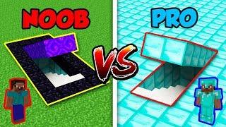 Minecraft NOOB vs. PRO: SECRET PORTAL vs. DIAMOND BASE in Minecraft!