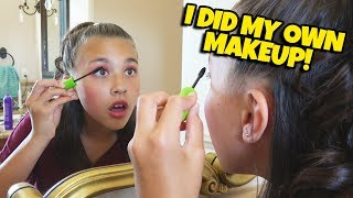 I DID MY OWN MAKEUP!!! James Charles Helps Me Get Ready for My Dance Recital!