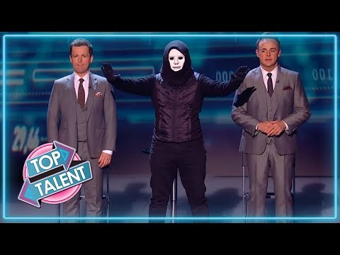 MASKED Magician Give Ant and Dec The SHOCK Of Their Lives! | Magicians Got Talent (видео)