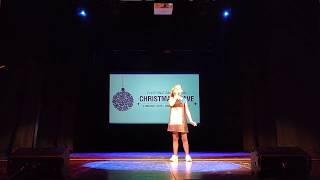 Ева Калтыгина с песней «Звезда» на фестивале «Рождественская волна» в Дрездене