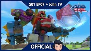 [Official] DinoCore & John TV | Pizza Dance With Rex! | Dinosaur Animation | Season 1 Episode 7