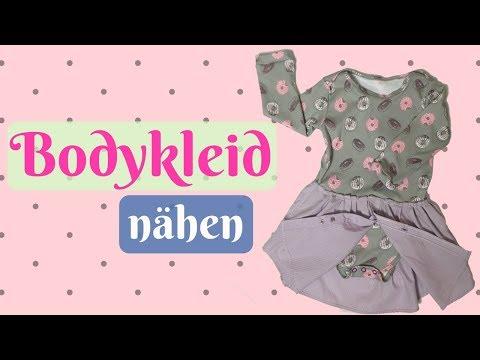 Bodykleid / Body Baby nähen - Nähanleitung für Anfänger mit kosentenlosem Schnittmuster