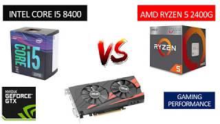 i5 8400 vs Ryzen 5 2400G - GTX 1050 TI 4GB - Benchmarks Comparison