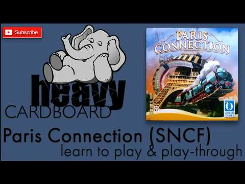 Paris Connection (SNCF) Play-through & Teaching by Heavy Cardboard