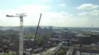 Time lapse Tower Crane Assembly