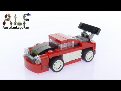 Vidéo LEGO Creator 31055 : Le bolide rouge