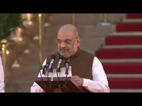 BJP strategist Amit Shah takes oath, joins PM Modi's cabinet