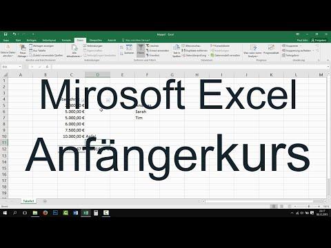 Excel 2013, 2016: Anfängerkurs - Der Grundkurs für Einsteiger [Tutorial, Teil 1]