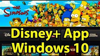 How to Install Disney+ App on Windows 10