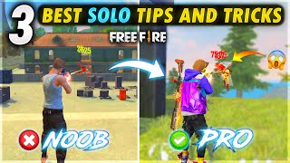 TOP 3 SOLO PRO TIPS AND TRICKS 🔥 - FireEyes Gaming - Garena Free Fire