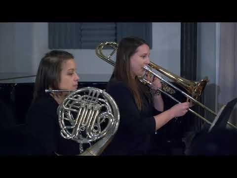 """Olivia performing """"Chorał"""" from Chorał i Toccatina by Ewa Fabiańska-Jelińska with subtle cheetah brass. February 2020."""