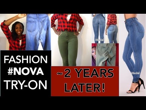 HOW DO FASHION NOVA JEANS LOOK AFTER ~2 YEARS? | TRY-ON review