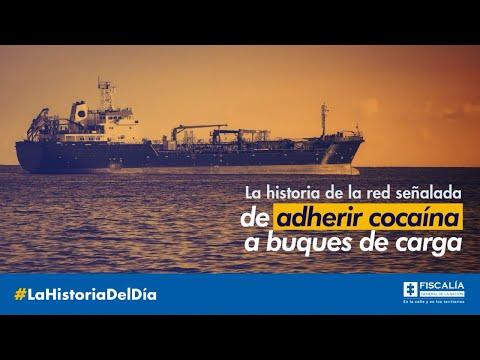 La historia de la red señalada de adherir cocaína a buques de carga