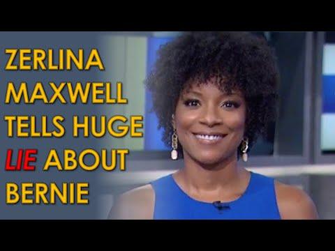 MSNBC host Zerlina Maxwell Tells MASSIVE lie about Bernie Sanders having fake Black supporters