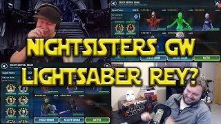 Star Wars: Galaxy Of Heroes - GW Nightsisters - Lightsaber Rey Discussion