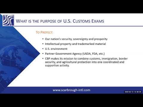 US Customs Exams Explained - Full Webinar - YouTube