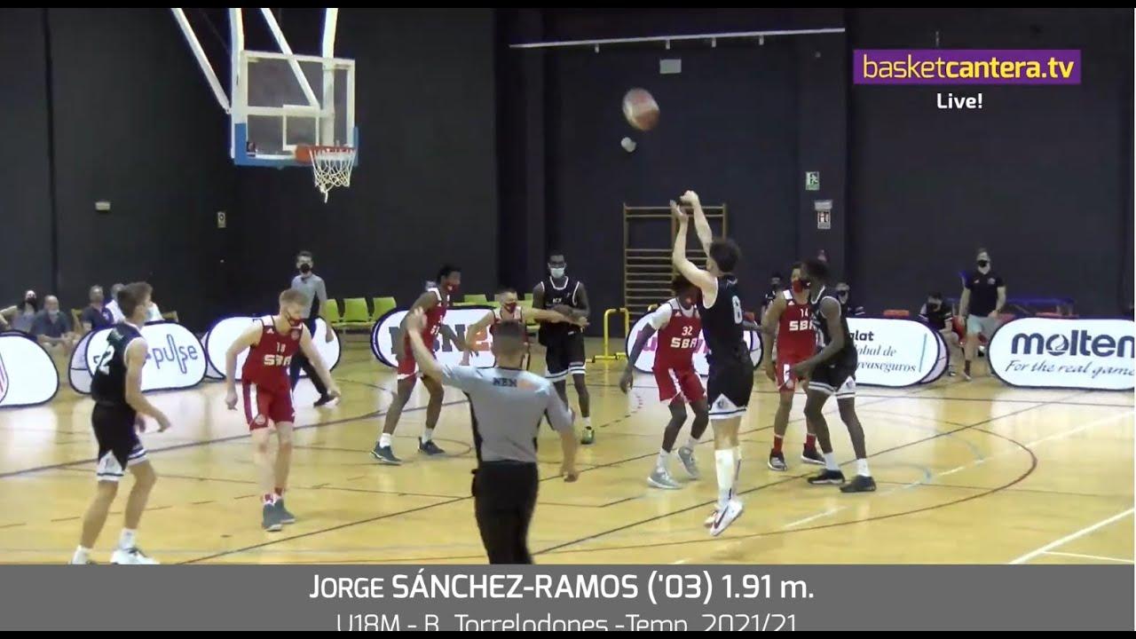 JORGE SÁNCHEZ-RAMOS ('03) 1.91 m.-  B.Torrelodones. Temp. 2020/21 #BasketCantera.TV