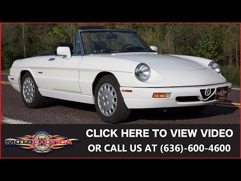 Video of 1993 Alfa Romeo Spider Auction Vehicle Offered by MotoeXotica Classic Cars - JIHY