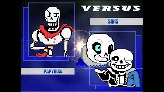 Kids play UNDERTALE MUGEN - Player 1 versus Player 2 MUGEN Battles!