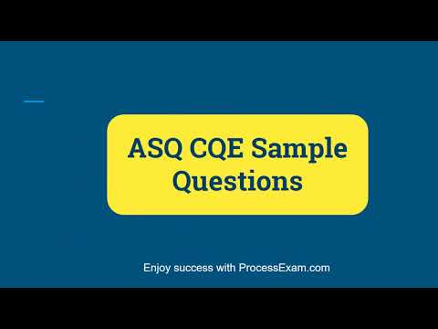 How to Prepare for ASQ Certified Quality Engineer (CQE ... - YouTube